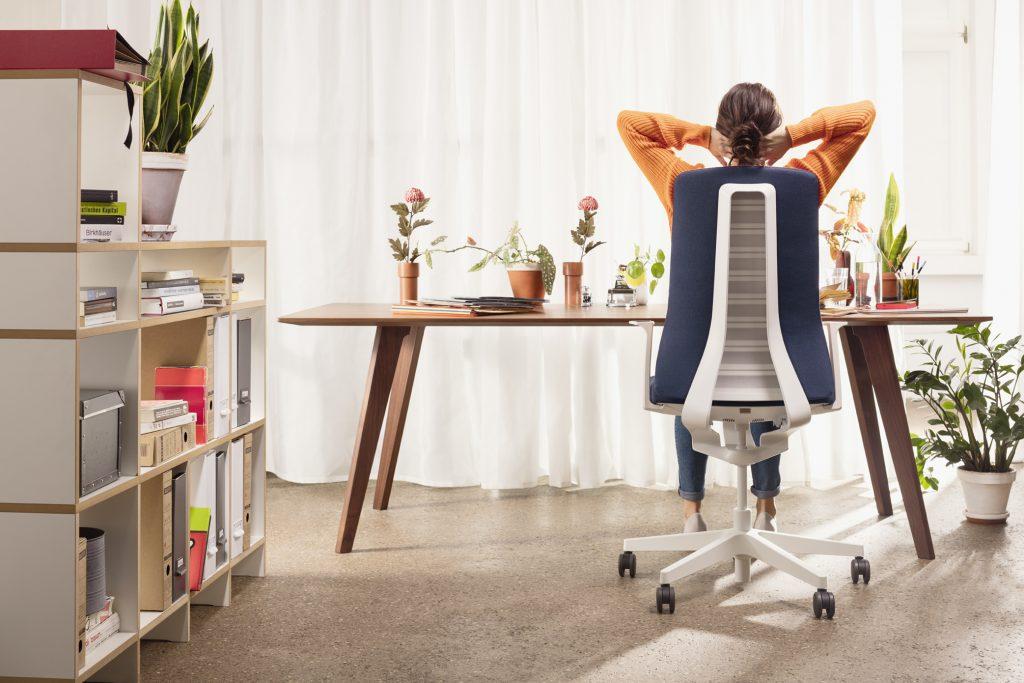 Afbeelding van een ergonomische bureaustoel